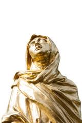 Goldene Skulptur von Mutter Maria.