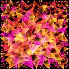 Vektor Hintergrund - Sterne - bunt