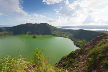Taal Volcano Lake on Luzon, Philippines