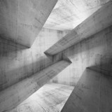 Abstract concrete construction background 3d