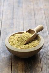 bulgur wheat, Turkish food isolated on wooden background