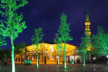 Мечеть Хаджи Байрам ночью. Анкара. Турция.