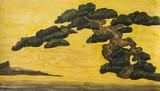 Pine tree, painting