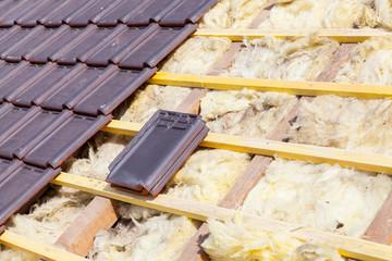 rénovation d'un toit en tuile