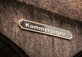 Strassenschild 43 - Kammerjäger