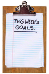 this week goals on clipbaord