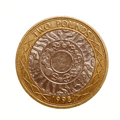 Retro look Pound coin - 2 Pounds