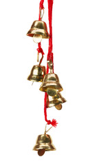 golden bells isolated on the white background