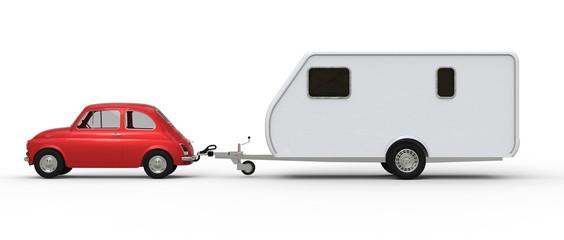 Auto mit Wohnwagen