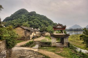 River ships pier on Lijiang River, Yangshuo, Guangxi Province