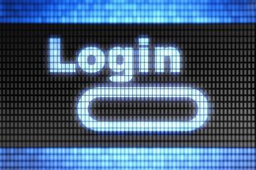 """""""Login"""" on the screen"""