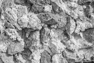 rough and bumpy texture stone of gray color