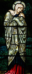 Mary (mother of Jesus) in stained glass