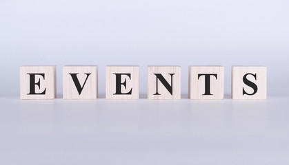 Events Word cube photo