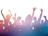 Fototapety Party crowd background