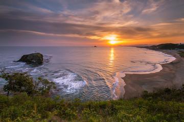 早朝の白兎海岸