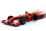 F1 generic racing car with special effect