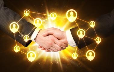 Social netwok connection handshake