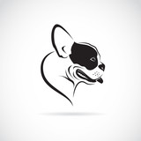 Fototapety Vector image of an dog (bulldog) on white background