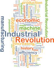 Industrial revolution background concept