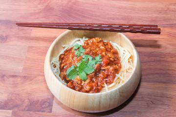 Spaghetti isolate on white
