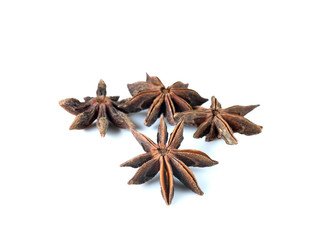 star anise isolated on white