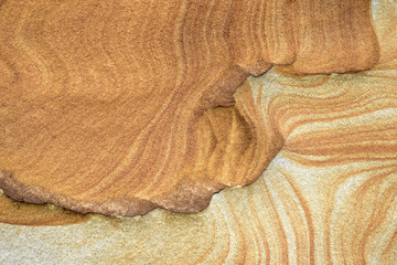 Close up view of Sandstone Curve