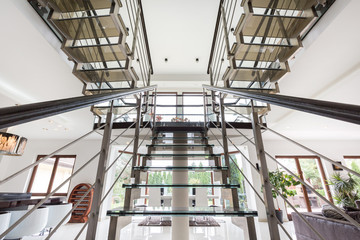 Staircase in spacious residence