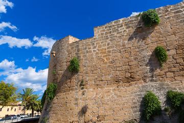 Alcudia Old Town fortress wall in Majorca Mallorca