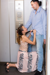 Love at office lift