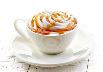 cup of caramel latte