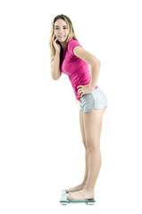 Control de peso mujer joven