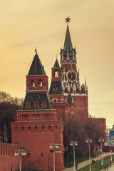 Spasskaya Tower of the Moscow Kremlin, Russia