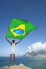 Person Holding Brazilian Flag Rio de Janeiro