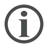 Icono redondo simbolo informacion gris