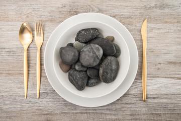 piatto di sassi