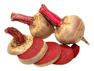 Raw beetroots