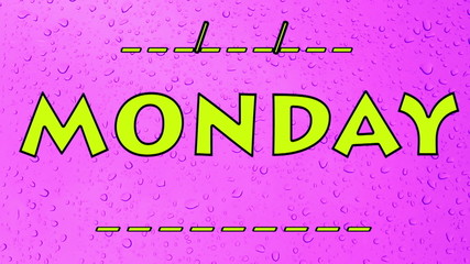 Monday Days of the week