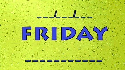 Friday Days of the week