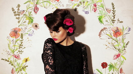 Girl with Roses in Hair 7