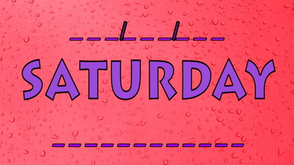 Saturday Days of the week