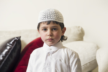 Young Arabian Kid at home