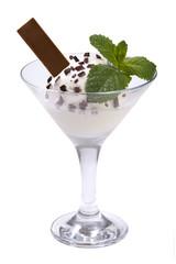 Ice cream in a glass