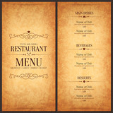 Fototapety Restaurant menu design