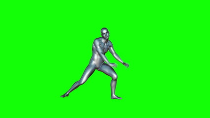 Chrome Boy Dancing (Green Screen)
