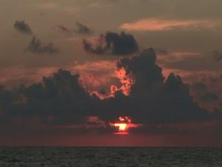 Tramonto del sole