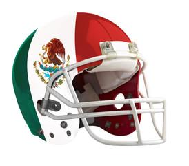 Flagged Mexico American football helmet