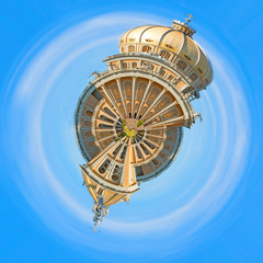 Abstract architecture, planet panorama