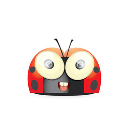 cartoon cute bright ladybag. vector illustration.