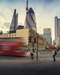 London street red double decker bus